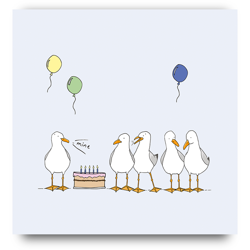 Birthday Seagulls