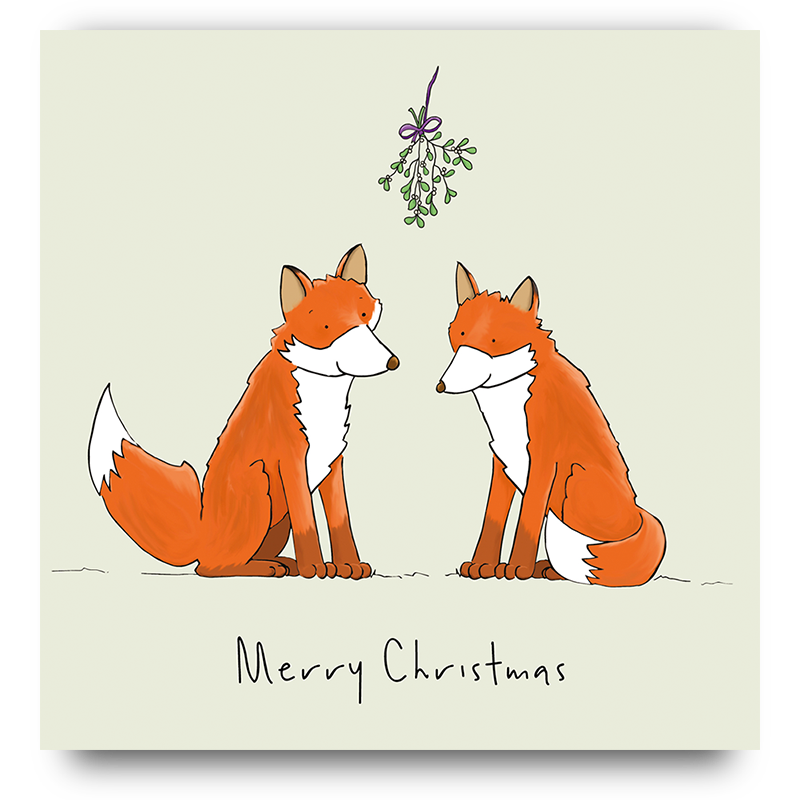 Merry Christmas Foxes