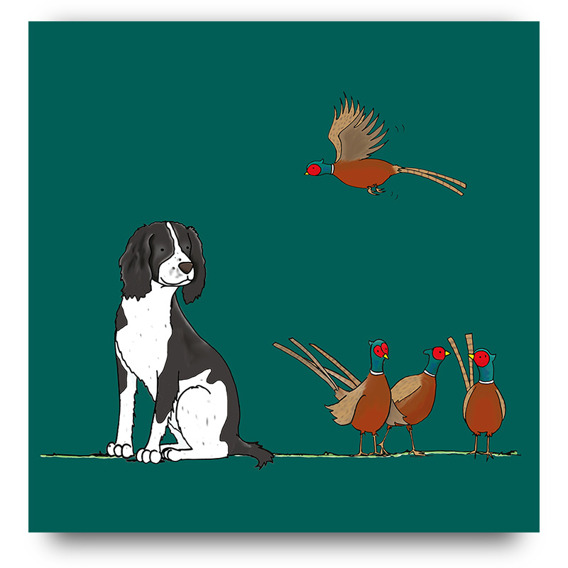 Dog & Pheasants
