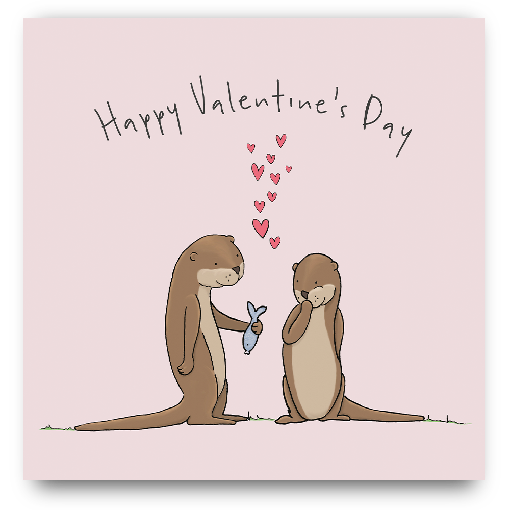 Valentine's  Day Otters